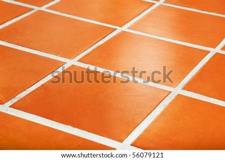 Ceramic tiled floor - stock photo