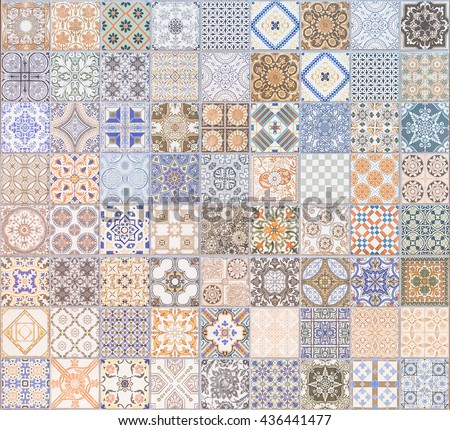 Pattern ceramic tile