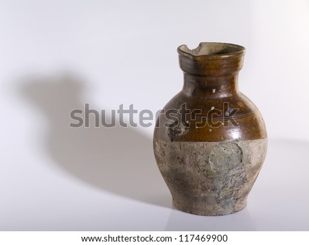 ceramic vase on a light background
