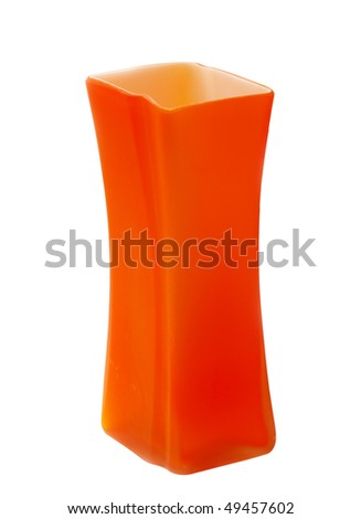 Ceramic vase on the cut out background