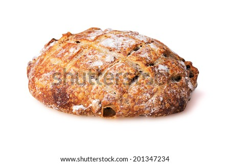Cereal bread isolated on white background
