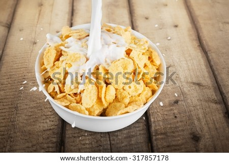 Cereal breakfast. - stock photo