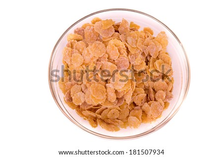 cereal breakfast on a bowl - stock photo