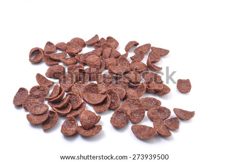 Cereal chocolate on white background - stock photo