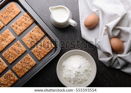 Cereal cookies on baking tray