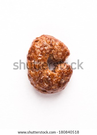 Cereal flake C letter - stock photo
