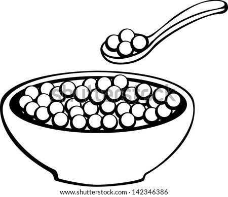 bowl of cereal coloring pages - photo#2