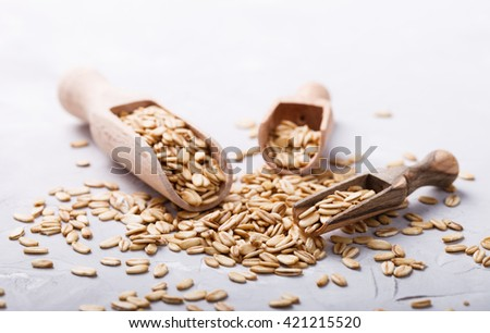 Cereal whole grain.On a light background.Copy space.selective focus. - stock photo