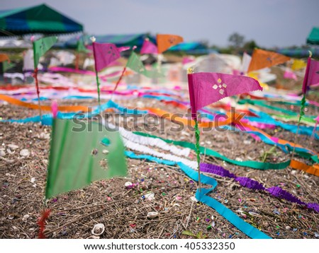 Ceremony of Ancestor Worshipping in Qingming Festival - stock photo