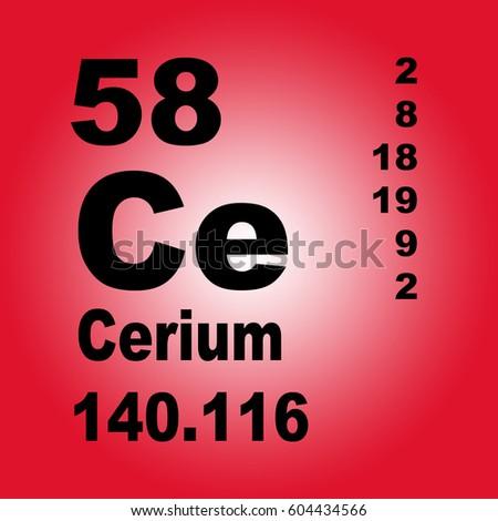 Cerium periodic table elements stock illustration 604434566 cerium periodic table of elements urtaz Images