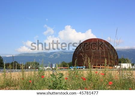 CERN,high energy laboratory - stock photo