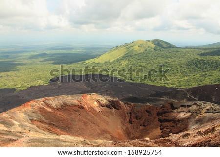 Cerro Negro Volcano, Nicaragua - stock photo