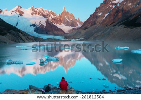 Cerro Torre in Argentina - stock photo