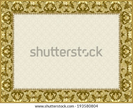 certificate, diploma for print  - stock photo