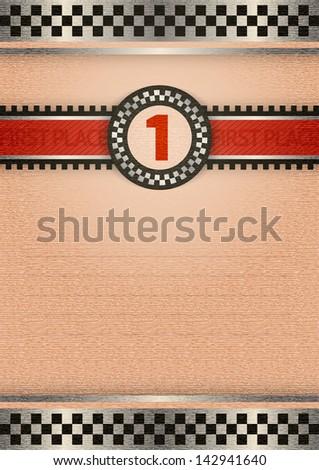 Certificate of award, retro color. Rasterized versions (copies) - stock photo