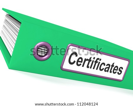 Certificates File Contains Diplomas And Records