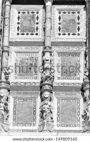 Certosa di Pavia, landmark medieval monastery in Pavia, Italy - stock photo