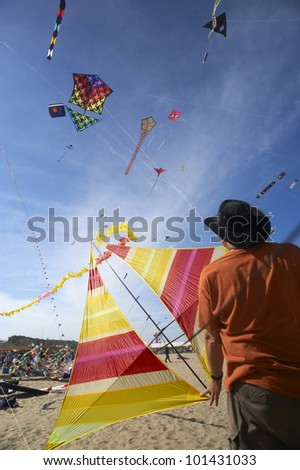 CERVIA - APRIL 28 :the 32�° International Kite festival on the beach, from April 21 to May 1,April 28, 2012  in Cervia,Italy