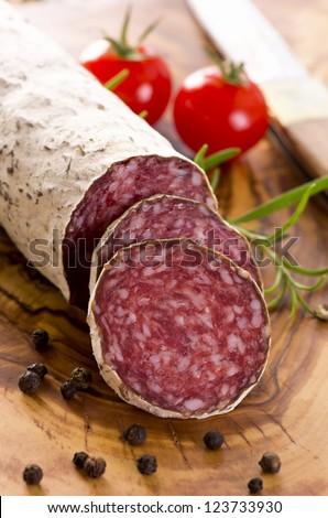 cervine salami - stock photo