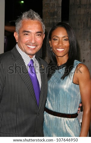 Cesar Millan and Jada Pinkett Smith  at the party to celebrate the 100th Episode of 'Dog Whisperer'. Boulevard 3, Hollywood, CA. 09-17-08