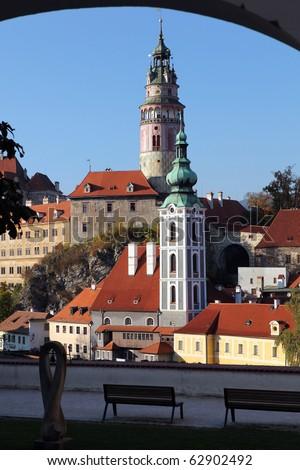 Cesky Krumlov, Bohemia - stock photo
