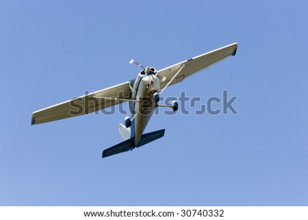 Cessna type plane with charter flights