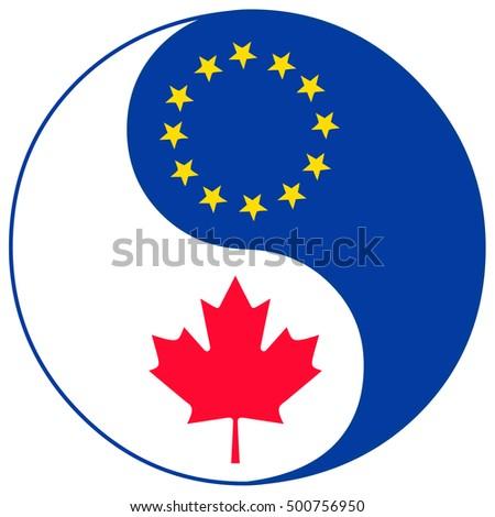 Ceta Trade Agreement Symbol Concept Sign Stock Illustration