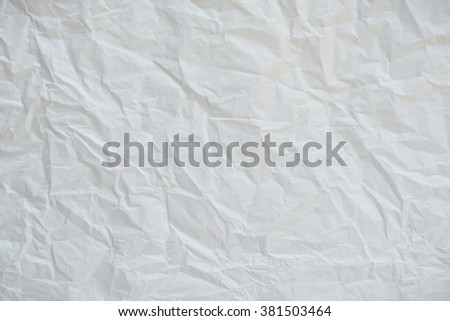 Ceumpled white for background - stock photo