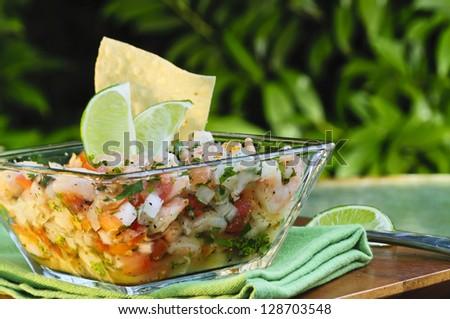 Ceviche Appetizer - stock photo
