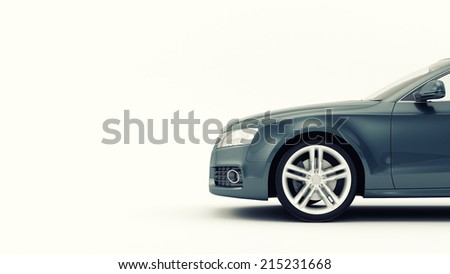 CG 3d render of generic luxury sport car isolated on a white background - stock photo