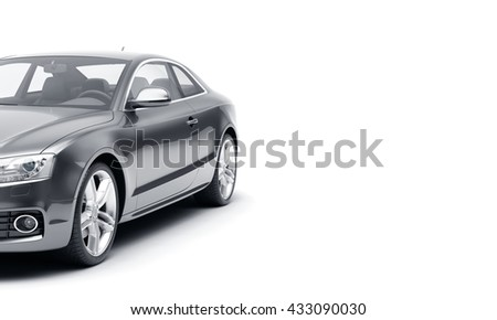 CG 3d render of generic luxury sport car isolated on a white background. 3d illutration car - stock photo