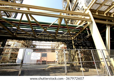 CHACHEANGSOW-THAILAND-FEBRUARY 28, 2015 : Structure of Bang-pra-kong  Power Plant on February 28, 2015 Chacheangsow Province, Thailand.
