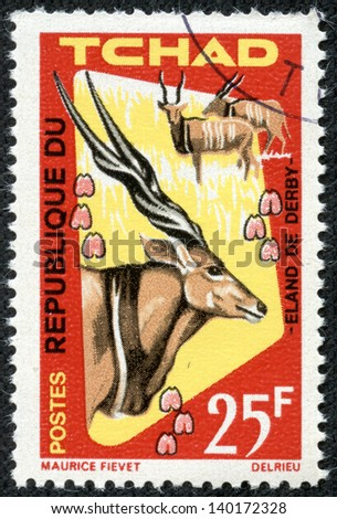 CHAD - CIRCA 1965: stamp printed by Chad, shows Derby eland, circa 1965