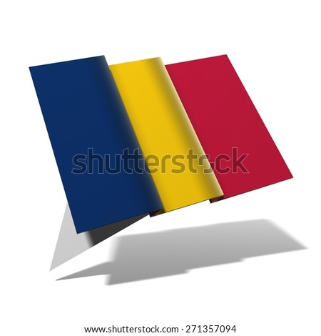 Chad flag 3D banner - stock photo