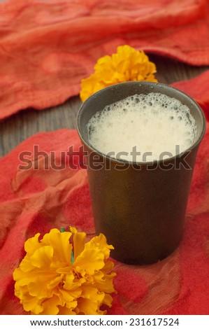 chai, Indian spicy milk tea   - stock photo