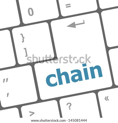 chain button on computer pc keyboard key, raster - stock photo
