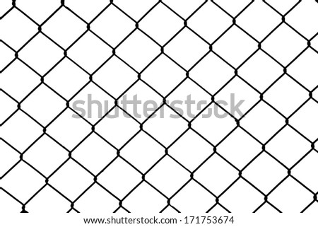 Chain fence silhouetted background.
