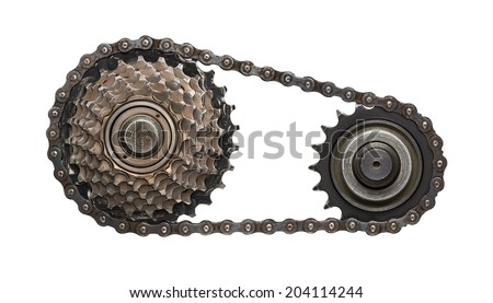 Chain gear - stock photo