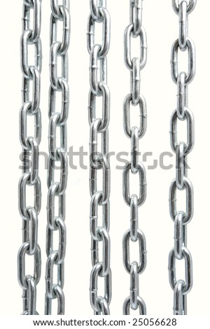 Chain isolated on the white background