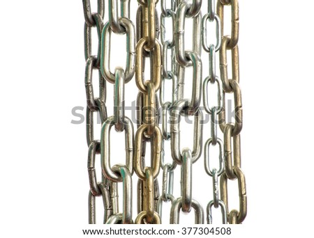Chain isolated on white