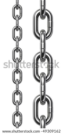 Chain isolated on white background - perfect tiled - stock photo