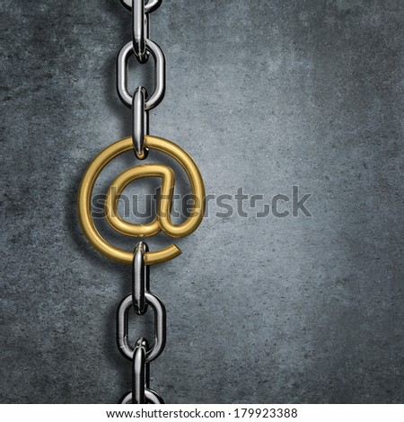 Chain link email - stock photo