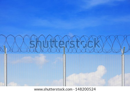 Chain link fence - stock photo
