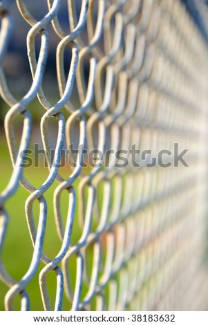 chain link fence close up background