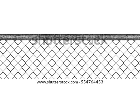 Chain Link Fence Isolated Sketch Pencil Stock Illustration 554764453 ...