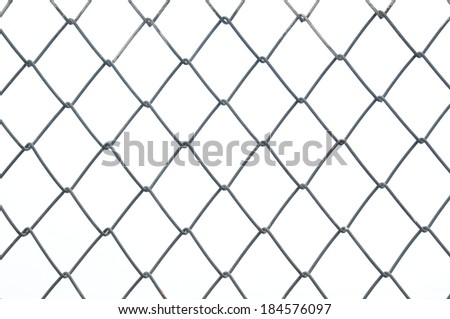 Chain link metal wire fence as background