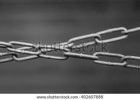 Chain of chains - stock photo