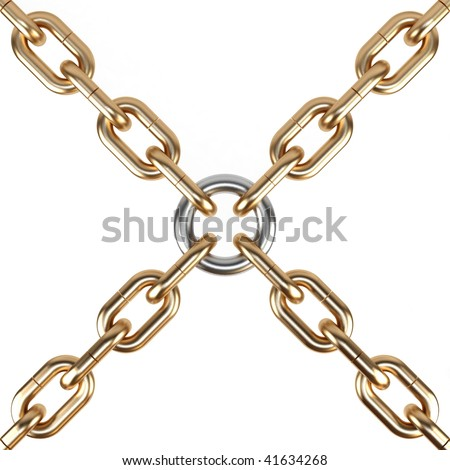 Chain on a white background. - stock photo