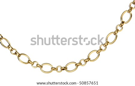 Chain on a white background
