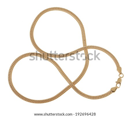 Chain on white background (isolated)